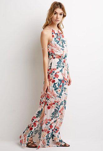 Floral Print Maxi Dress - Forever 21 - 2000079683 - Estilo ...