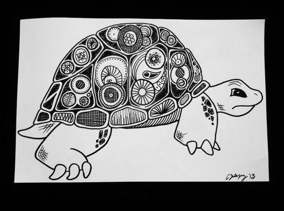 tortoise drawing for pinterest -#main