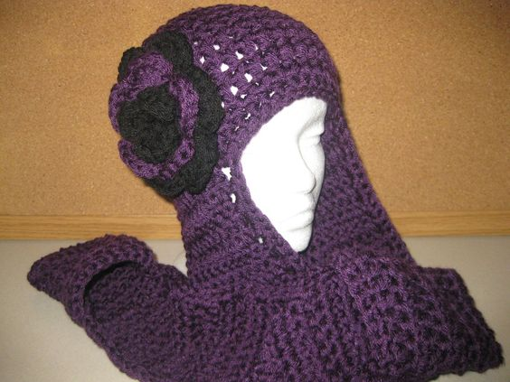 Knitting Pattern For Hat With Scarf Attached : Colors, Hats and Scarfs on Pinterest