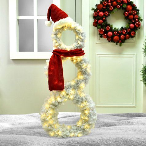 Member S Mark 63 Pre Lit White Snowman Christmas Light Installation Decorating With Christmas Lights Outdoor Holiday Decor