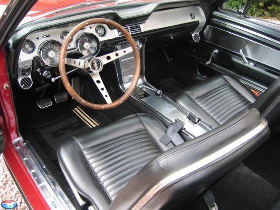 Interior Of An Original Stock Non Shelby 1967 Mustang Convertible 1967 Shelby Mustang Gt500
