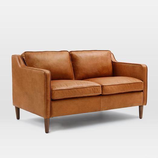 Hamilton Leather Loveseat. West Elm. Love this.