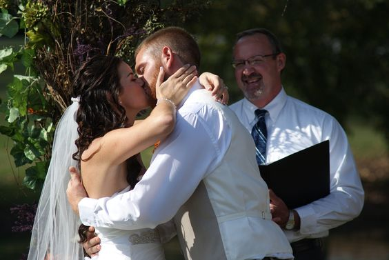 1st kiss as husband and wife!