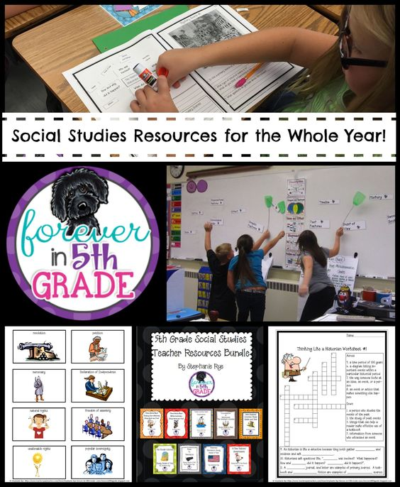 Th Grade Social Studies Classroom Decorations ~ Th grade social studies teacher resources bundle