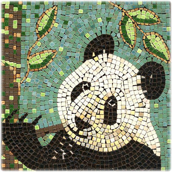 Mosaic panda mosaik panda mosaique panda micro for Mosaic painting meaning