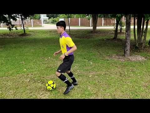ท กษะการเล ยงบอลข างเท าด านในและด านนอก Youtube ในป 2021