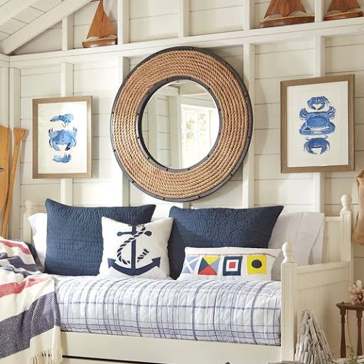 Decorating Ideas With Rope Mirrors Coastal Bedrooms Daybed With