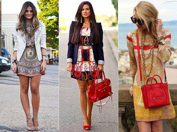 Como combinar acessórios com vestidos estampados - Site de Beleza e Moda:
