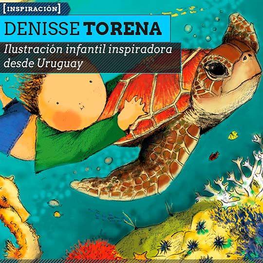 Ilustración infantil inspiradora con DENISSE TORENA. Talento en ilustración desde Uruguay.  Leer más: http://www.colectivobicicleta.com/2013/07/Ilustracion-de-DENISSE-TORENA.html#ixzz2YkoPZr8H