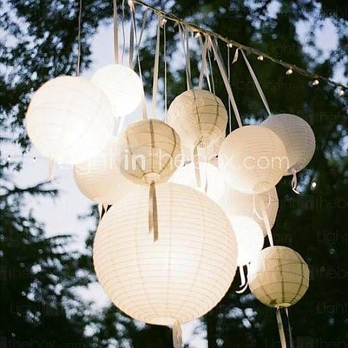 1pcs color8 misto lanterne di carta per baby shower battesimo stanza del bambino compleanno festa di nozze decorazione floreale - EUR € 1.81