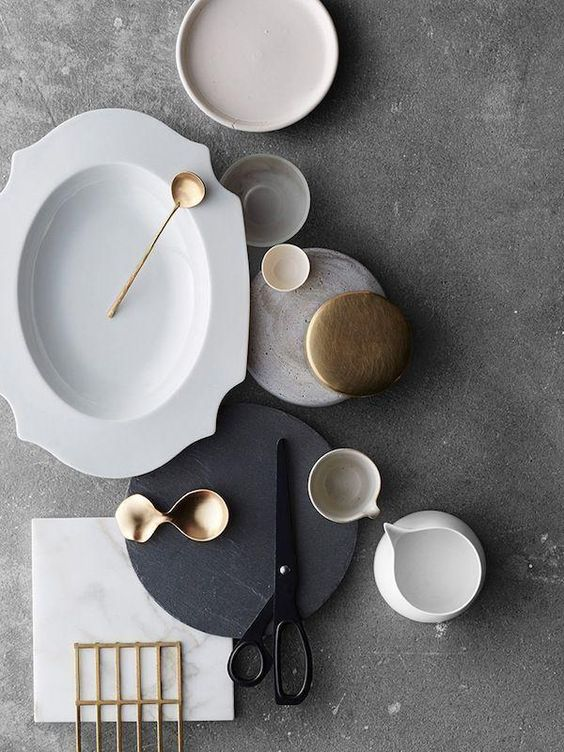 All gray with a touch of bronze:
