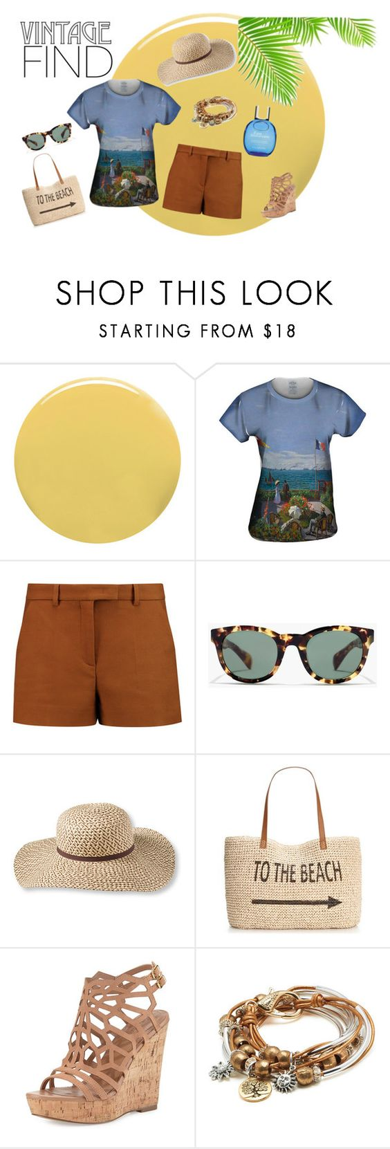 """""""Vintage Summer Find!"""" by yizzam ❤ liked on Polyvore featuring Lauren B. Beauty, Emilio Pucci, J.Crew, L.L.Bean, Style & Co., Charles by Charles David, Lizzy James, Clarins, vintage and ootd"""