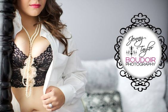 Jenny Taylor Boudoir Photography Chicago and Naperville | 100% Female Staff | On Location Hair and Makeup | Boudoir Poses | What to wear to your boudoir session  | Pearls | Victorias Secret bra