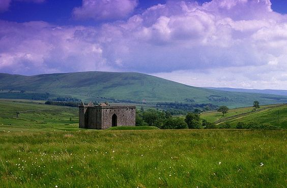 Hermitage Castle, dating from the 13th century, north of Newcastleton, Scottish Borders