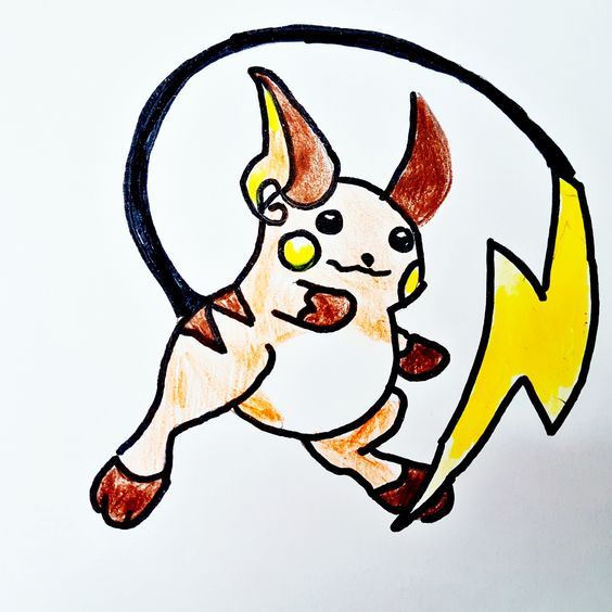 Pokemon Raichu zeichnen