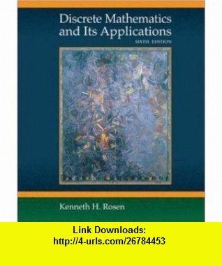 Discrete Mathematics and Its Applications (9780073229720) Kenneth Rosen , ISBN-10: 0073229725  , ISBN-13: 978-0073229720 ,  , tutorials , pdf , ebook , torrent , downloads , rapidshare , filesonic , hotfile , megaupload , fileserve