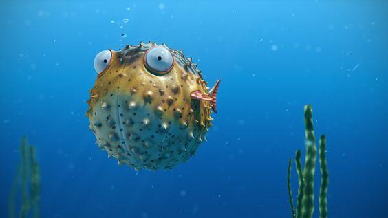 Sea bubbles spikes eye ball fish ocean underwater wallpaper | 1920x1080 | 282335 | WallpaperUP