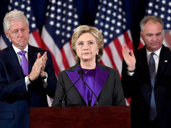 Why Hillary Clinton Chose to Wear Purple to Deliver Her Concession Speech #RueNow
