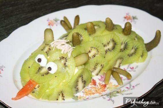 Весёлый дракоша салат новогодний