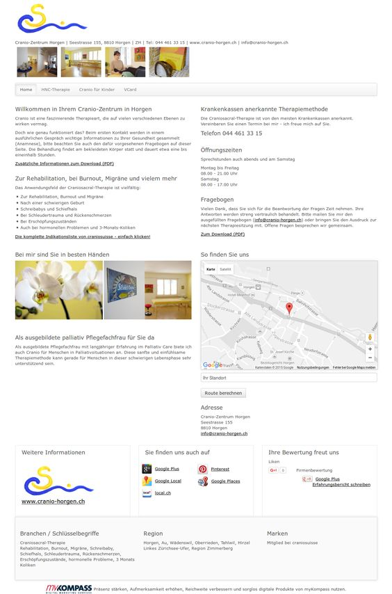 Cranio-Zentrum Horgen, Horgen, Craniosacral-Therapie, Rehabilitation, Burnout