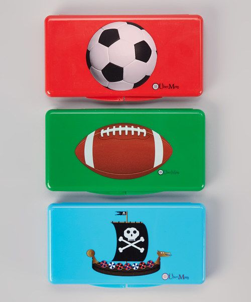 Look at this Über Mom Soccer Ball, Football & Pirate Wipe Box Set on #zulily today!