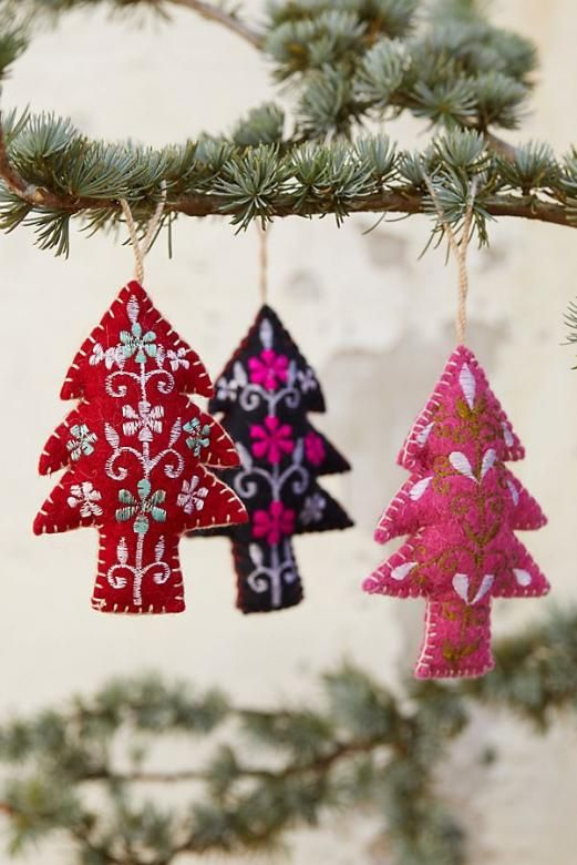 Colorful Evergreen Tree Ornament Anthropologie Christmasornaments Christmas Ornaments A In 2020 Diy Christmas Ornaments Christmas Ornaments To Make Christmas Diy