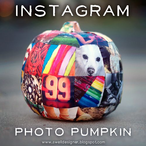 The Swell Life: How to make an Instagram Photo Pumpkin