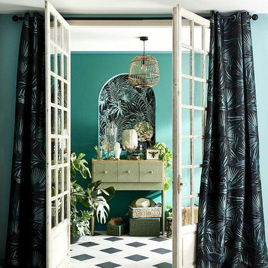 rideau voilage vitrage et rideaux sur