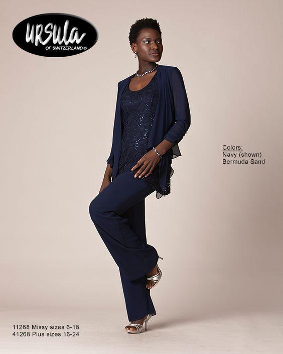 Women's plus size special occasion pant suits
