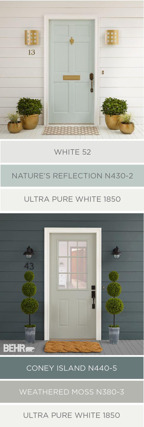 Exterior color palette by behr favorite paint colors for Outside door paint
