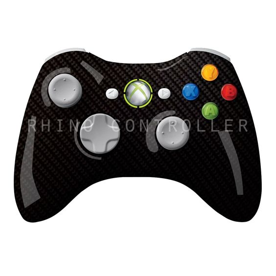 XBOX 360 controller Wireless Glossy WTP-454-Silver-Bias-Carbon Custom Painted- Without Mods