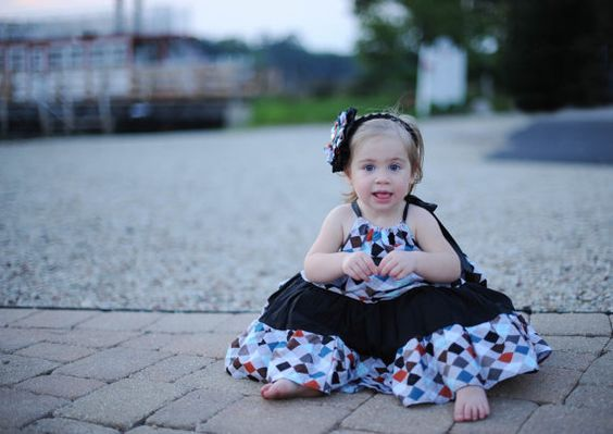 Argyle and Black Print Dress.....Size 18 to by LevonaDanielle, $25.00