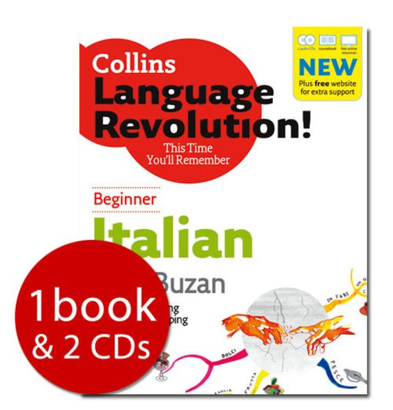 Collins Language Revolution!Italian Beginner - 1 Book & 2 CD's(NONE):9780007814879.  https://www.youtube.com/watch?v=d0yGdNEWdn0  TEDx https://www.youtube.com/watch?v=P8jhy7ZQC38  michel thomas, language master