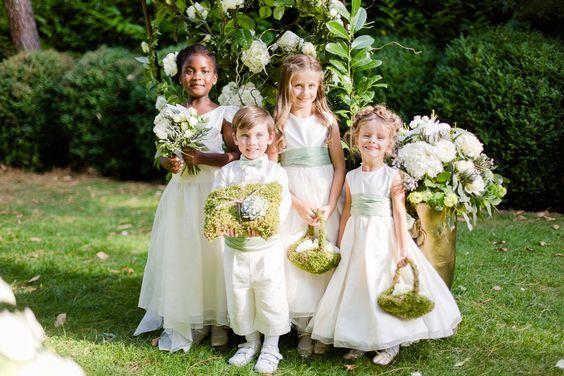 Sweet flower girls and ring bearer