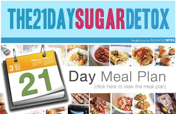 Sugar detox 21 day sugar detox and daily meal plans on pinterest