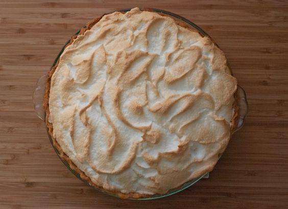 Rhubarb custard meringue pie.