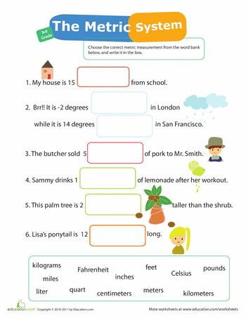 Printables Metric Units Worksheet metric system worksheets and articles on pinterest measurement mania 12 system