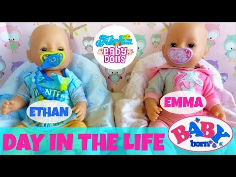 Wow Baby Born Twins Day In The Life Super Compilation Feeding Changing Outings Bath Youtube Baby Born Baby Play Baby