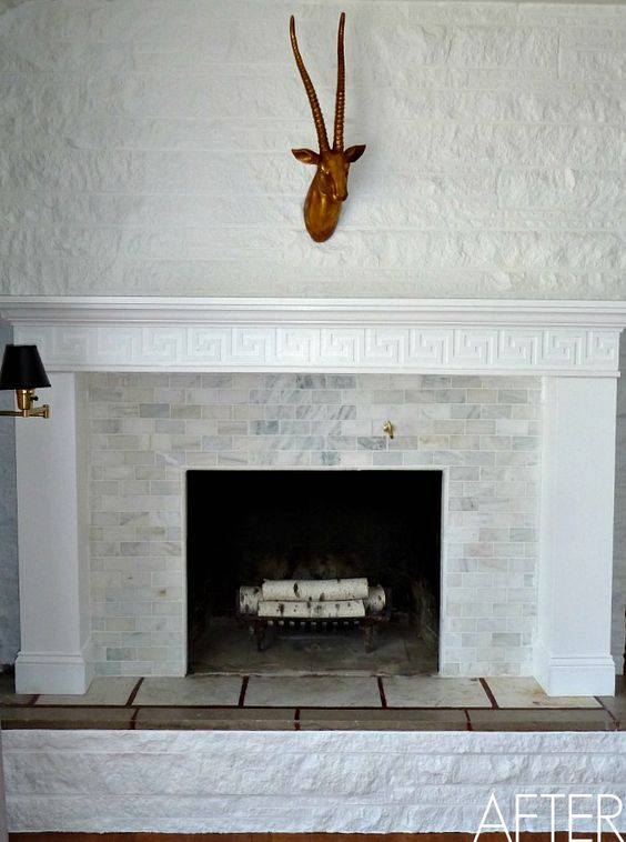 Fireplace makeovers fireplaces and diy fireplace on pinterest for Fireplace renovations before and after
