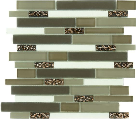 "Sheet Size: 11 3/4"" X 11 3/4"" Tile Size: Random Bricks Tiles Per"