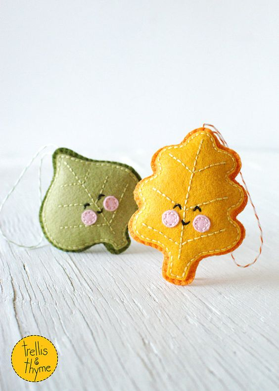 PDF Pattern  Little Leaves Embroidery and Sewing por sosaecaetano