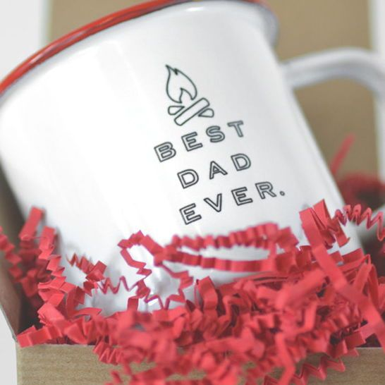 ... for the Best Dad Ever. Your dad will love this sturdy and rugged mug that proclaims him as Uber Dad. This enamel mug is great for camping, traveling or just sipping morning coffee at home. Plus, you can add an engraving to customize this mug.  Creative gift ideas, Christmas gifts, gifts for guys, boyfriend gifts, christmas gifts for boyfriend, secret santa ideas, gifts for dad, Christmas presents for boyfriend, gifts for coworkers #GiftCreativity