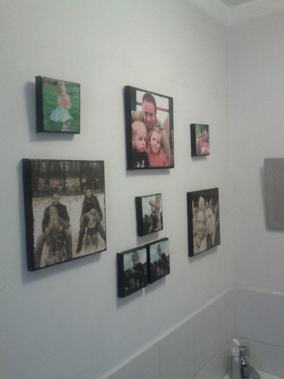 Zelfgemaakte 'canvas' fotowand
