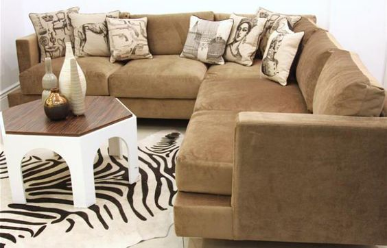Oliver Sectional in Putty Velvet