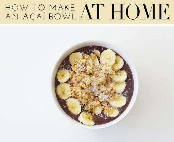 How to make an acai bowl at home | theglitterguide.com