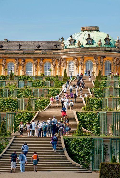 Schloss Sanssouci Berlin Berlin Sanssouci Schloss 風景 ヨーロッパ 古城