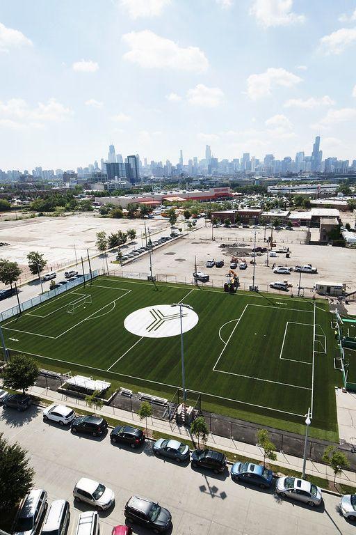 Fleet Fields In Lincoln Yards Chicago In 2020 Street Soccer Diy Artificial Turf Soccer Field