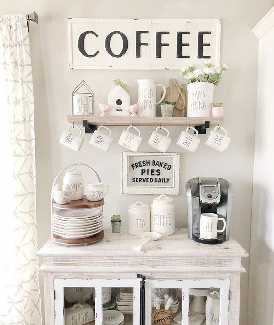 Kitchen Cabinet Ideas Coffee Bar Home Coffee Bar Design Farmhouse Coffee Bar