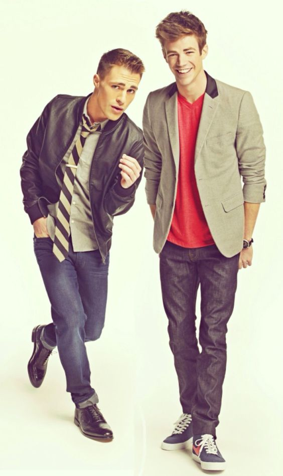 Grant Gustin and Colton Haynes for Arrow they're both #totesamaze.
