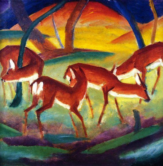 Franz Marc | Red Deer I, 1910-1911